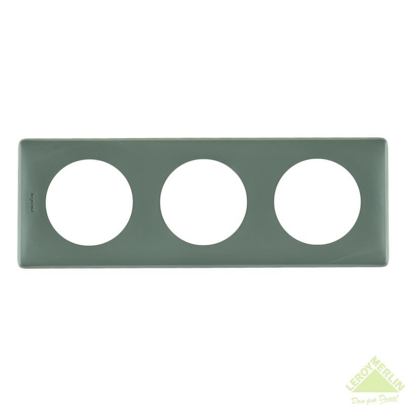 Рамка для розеток и выключателей Celiane, 3 поста, цвет грей
