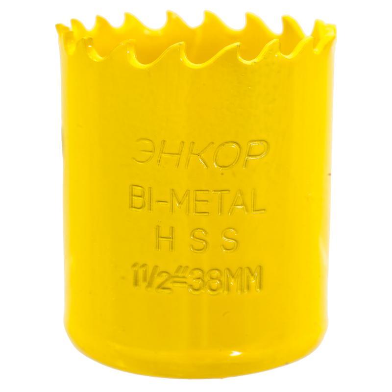 Коронка для металла Энкор Bi-Metall, D38 мм