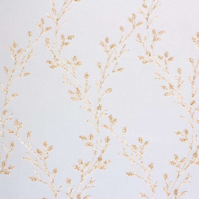 Тюль 1 п/м «Женевьева», вышивка, 295 см, цвет золотой