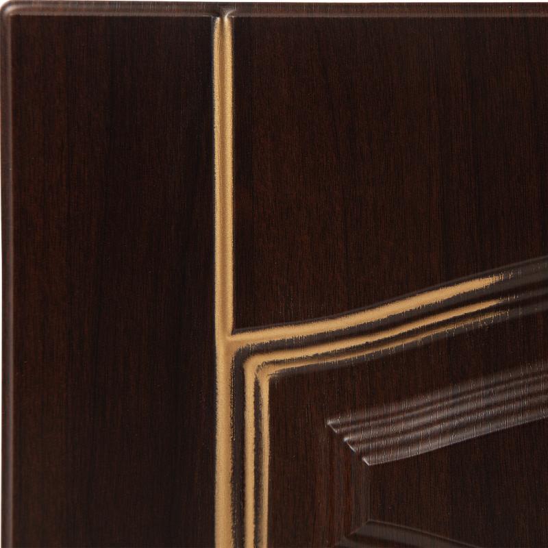 Дверь для кухонного шкафа «Византия», 80х70 см, цвет тёмно-коричневый