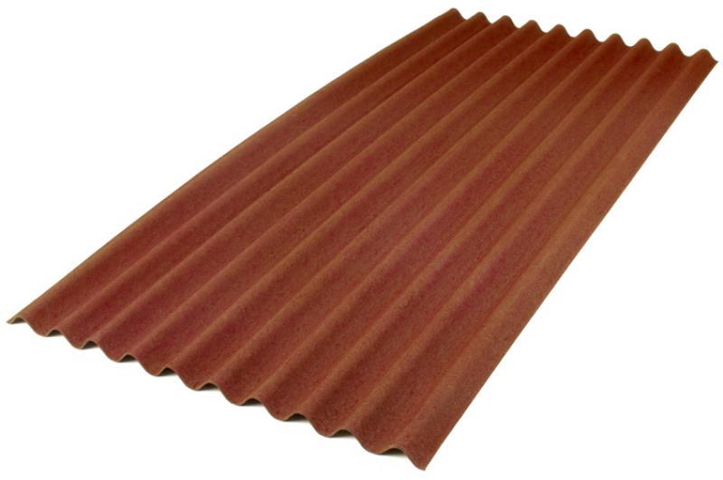 Лист Ондулин, коричневый
