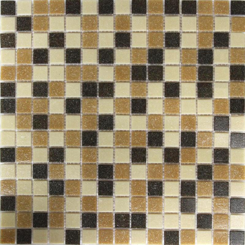 Мозаика, 32.7х32.7 см, 4 мм, стекломасса, цвет бежево-коричневый