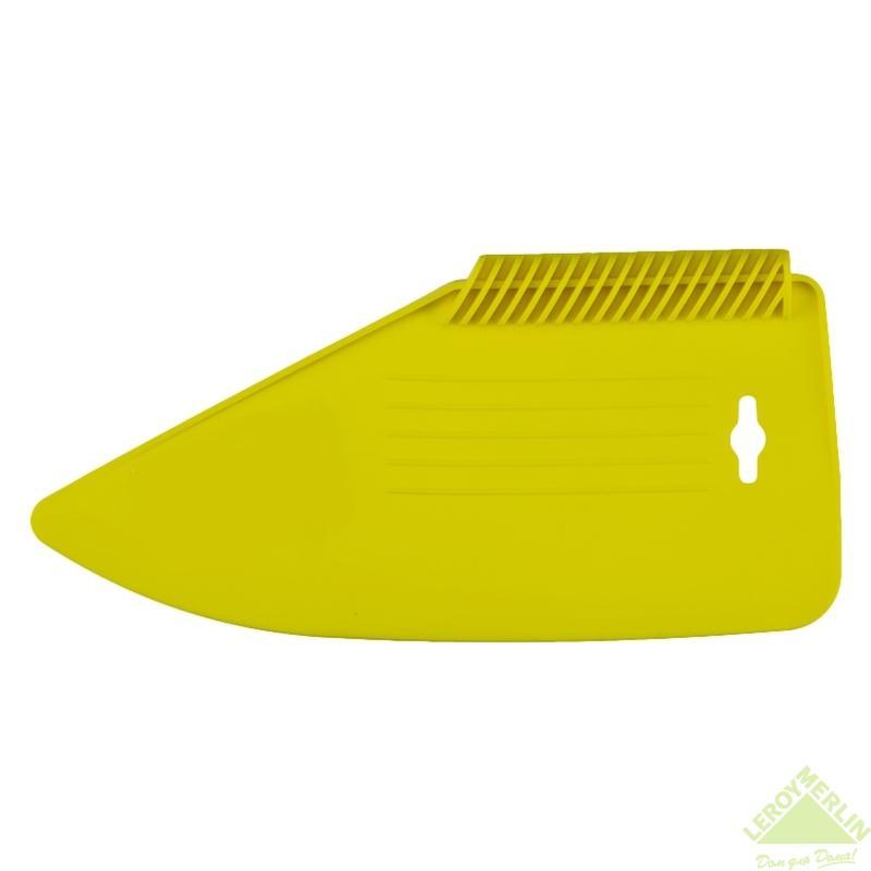 Шпатель пластиковый для прикатки обоев, желтого цвета