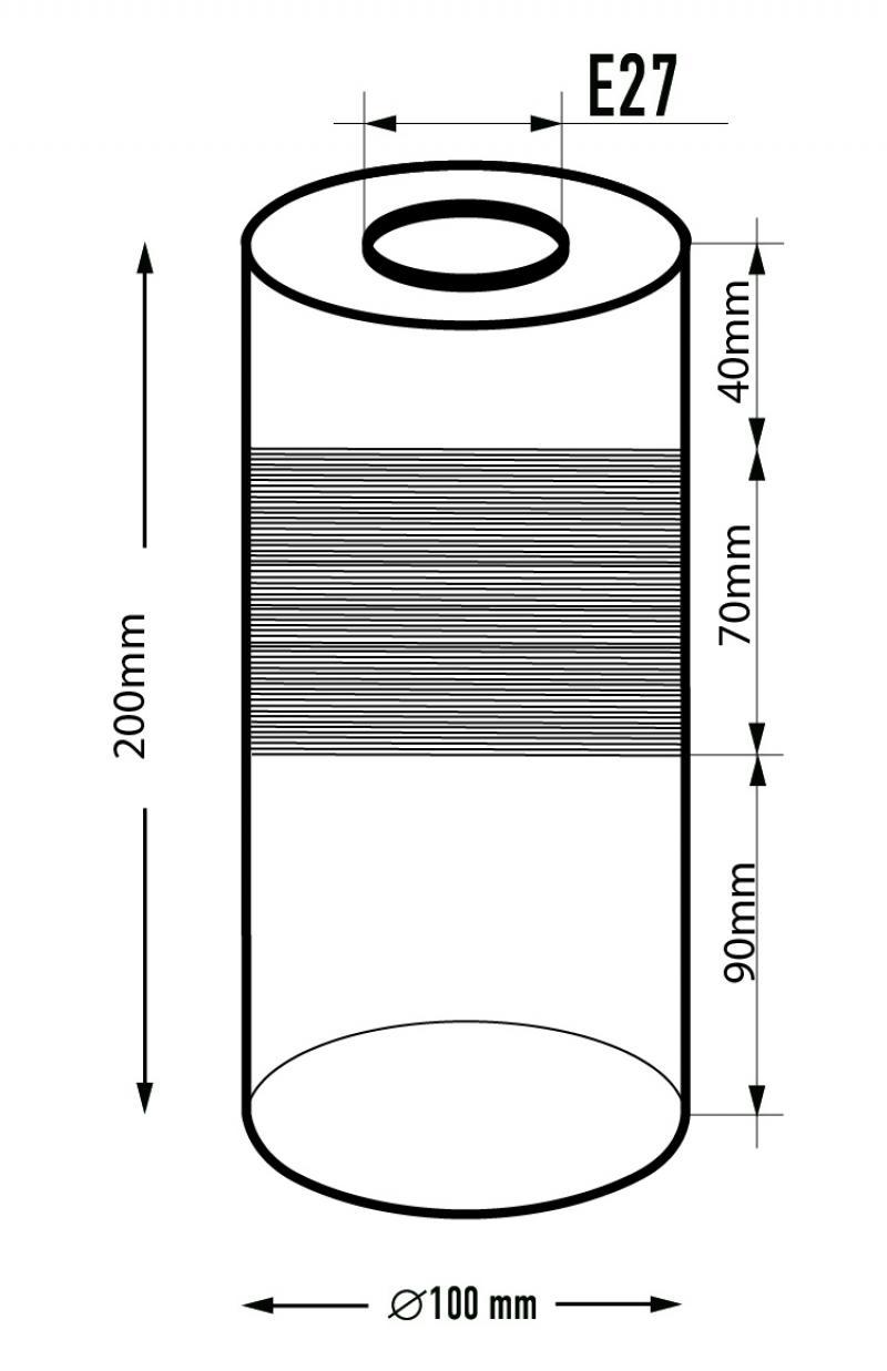Плафон «Цилиндр» S.23.AM, E27, 10 см