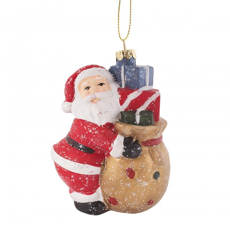 Украшение ёлочное «Санта с подарочками», 11 см