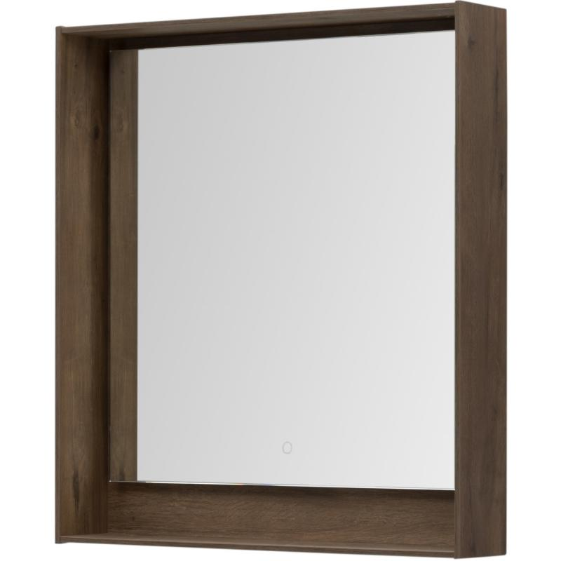 Зеркало с подсветкой «Мокка» 80 см, цвет дуб