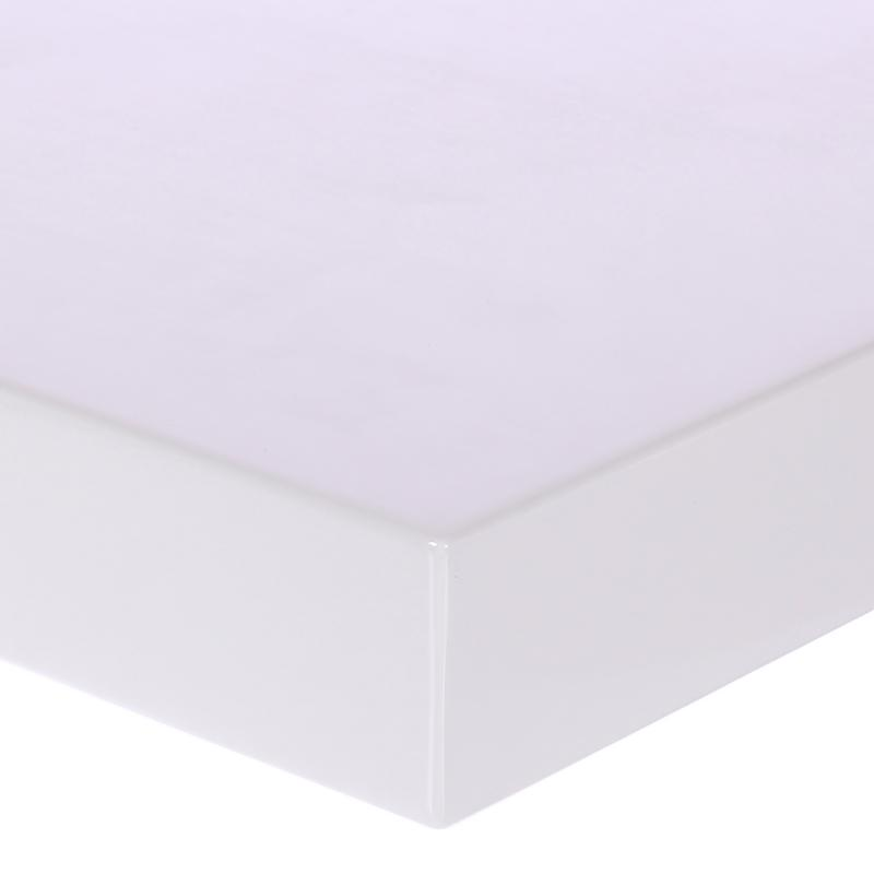 Полка для ванной комнаты 60х20 см цвет белый глянец