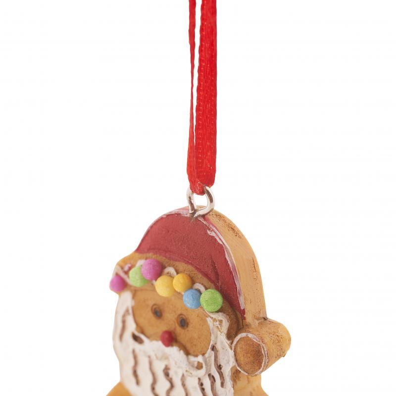 Украшение ёлочное «Санта-пряничек», 11.5 см