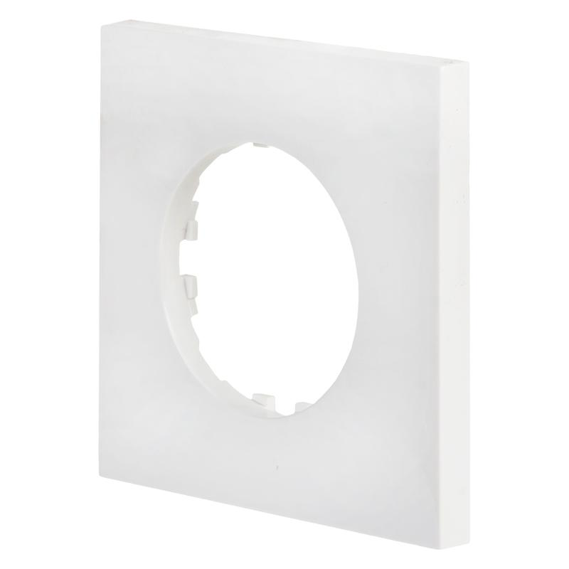 Рамка LK Vintage-Quadro 1 пост квадратная, белая