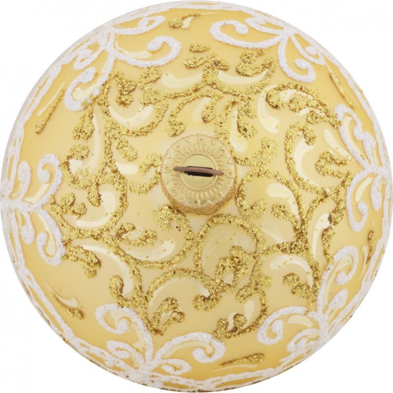 Шар ёлочный «Золотой узор», 8 см