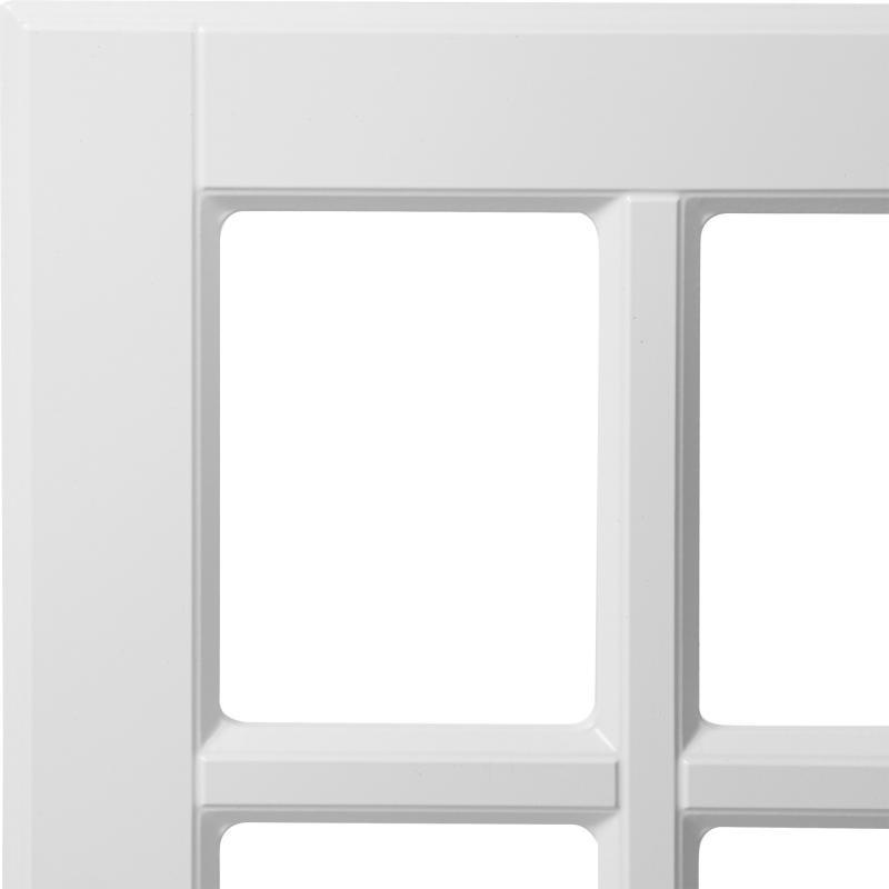 Витрина для шкафа Delinia «Леда белая» 40x70 см, МДФ, цвет белый