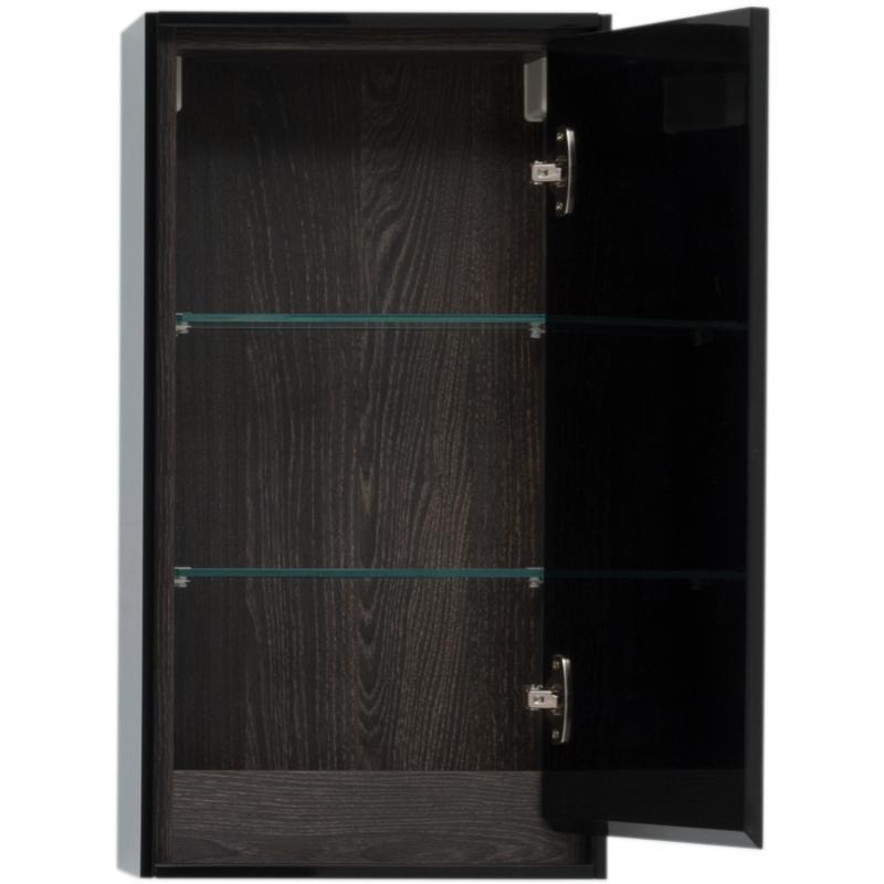 Шкаф подвесной «Мокка» 35 см, цвет чёрный глянец