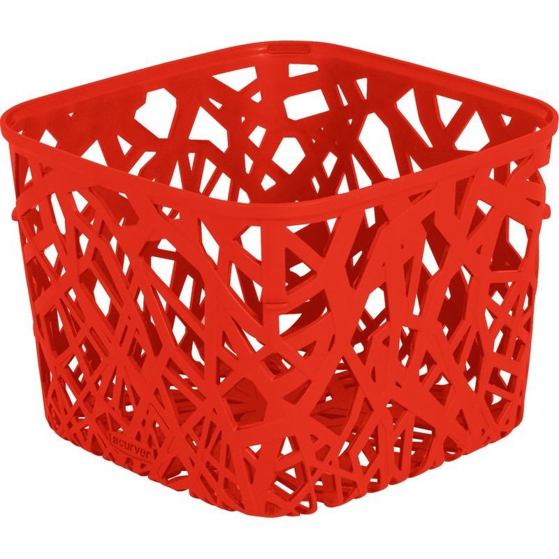 Корзинка квадратная Curver Neo красная
