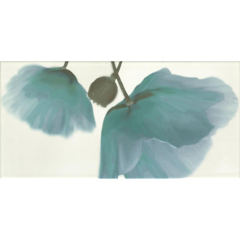 Декор Optic flor azul, 25x50 см