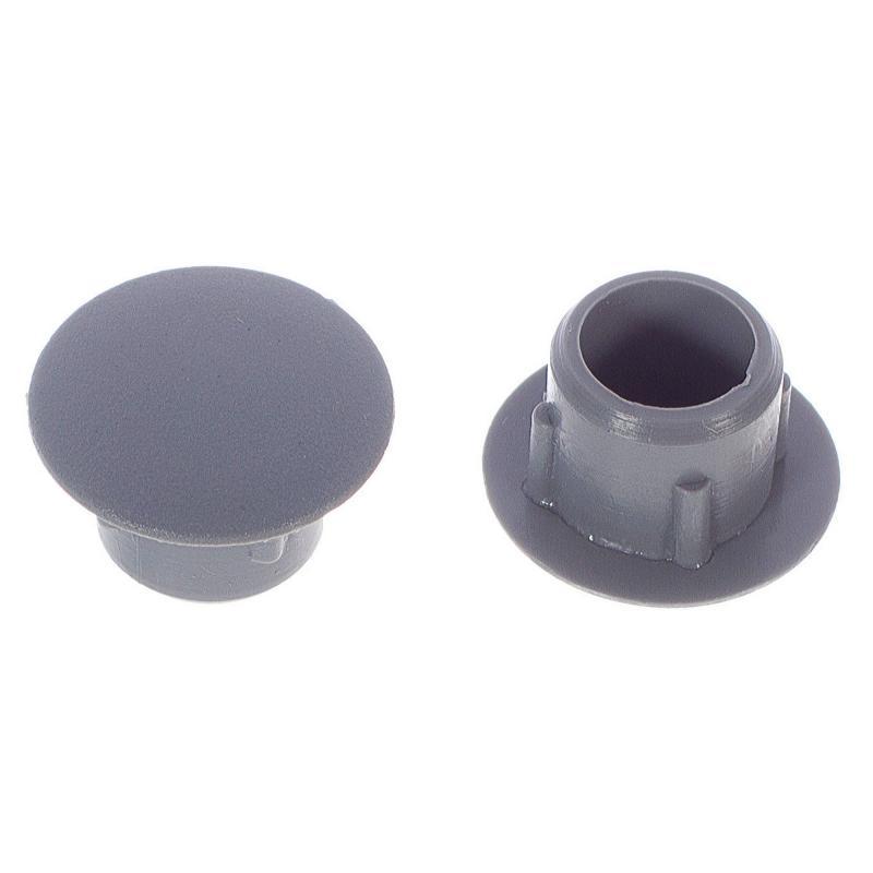 Заглушка на отверстие 10 мм полиэтилен цвет серый, 35 шт.