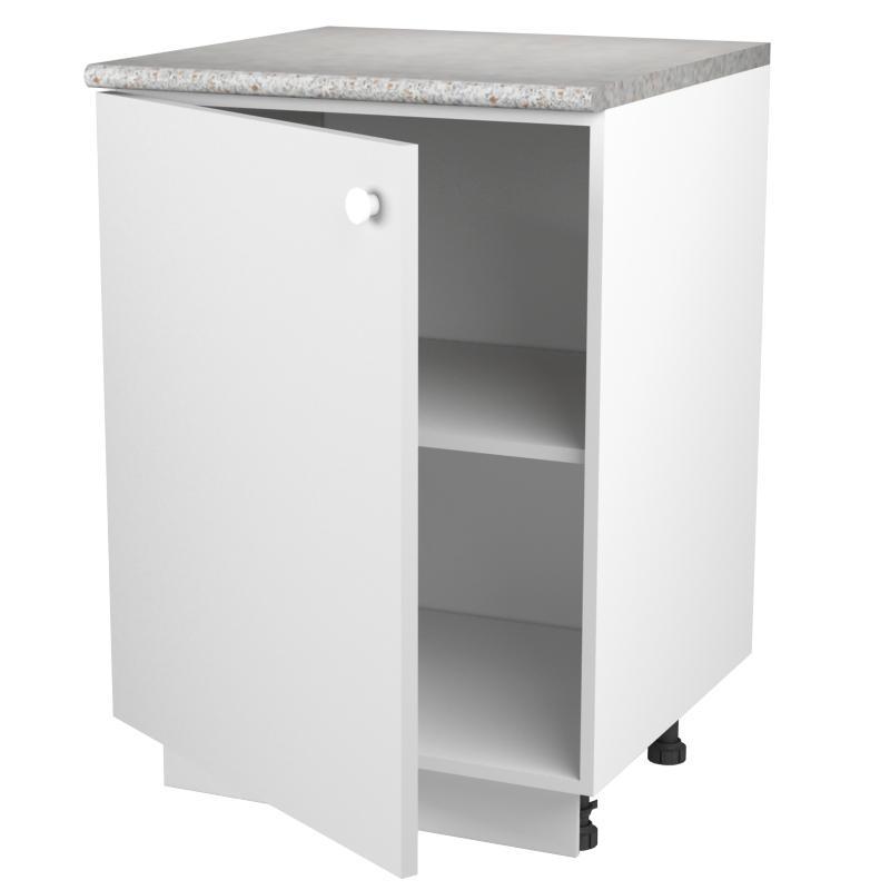 Шкаф напольный «Бьянка МО» с фасадом 80х60 см, ЛДСП, цвет белый