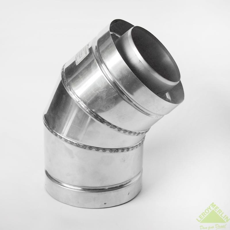 Утепленное колено Мета, 45 мм