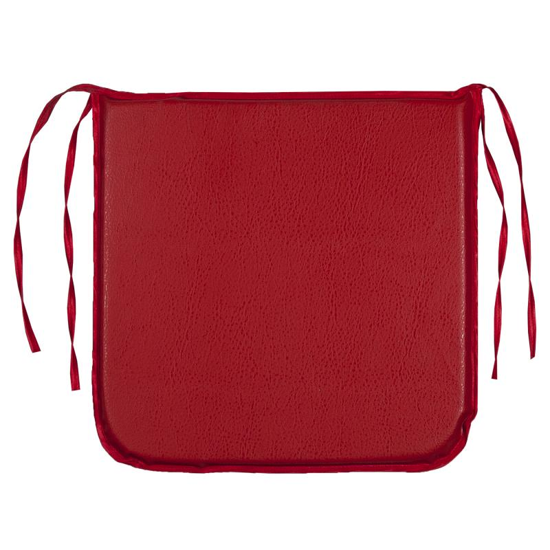 Подушка декоративная для стула «Дача» 35х35 см цвет красный
