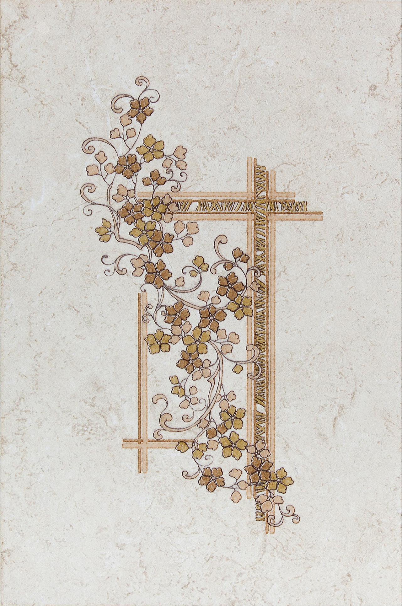 Декор «Полонез» 20х30 см цвет бежевый