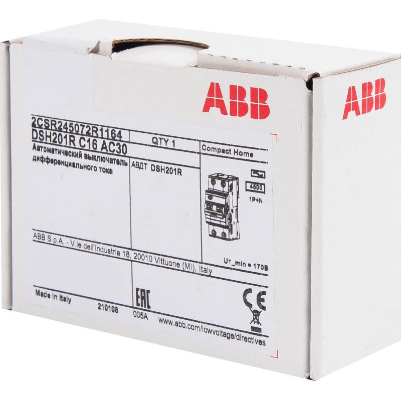 Автомат дифференциальный Abb 2 полюса 16 А, 2CSR145001R1164