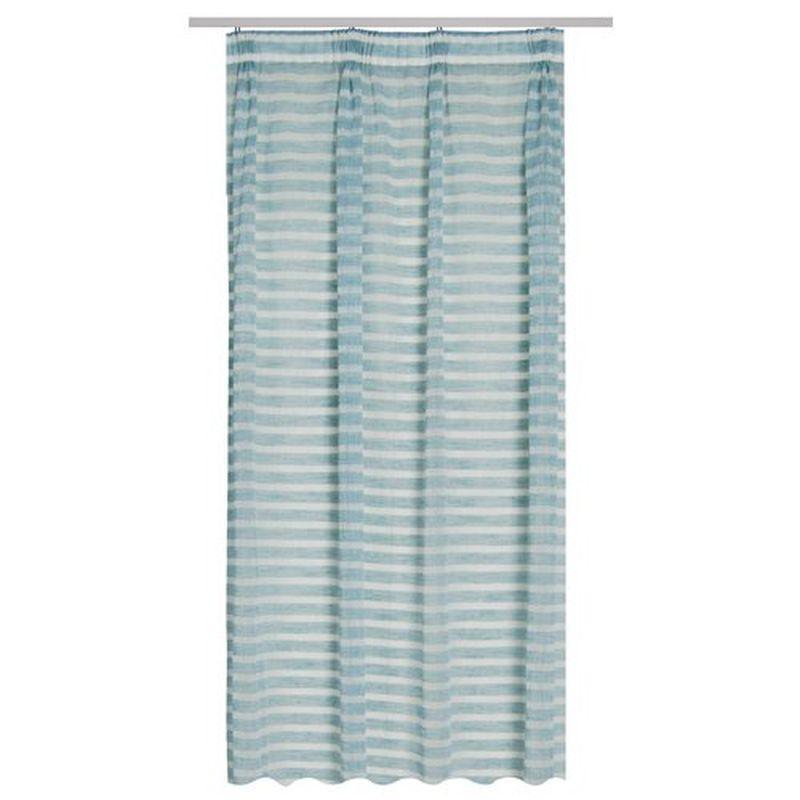 Тюль на ленте «Варзи» 300х260 см цвет синий