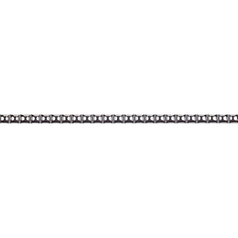 Бордюр «Бусинки» 13х250 мм цвет платиновый