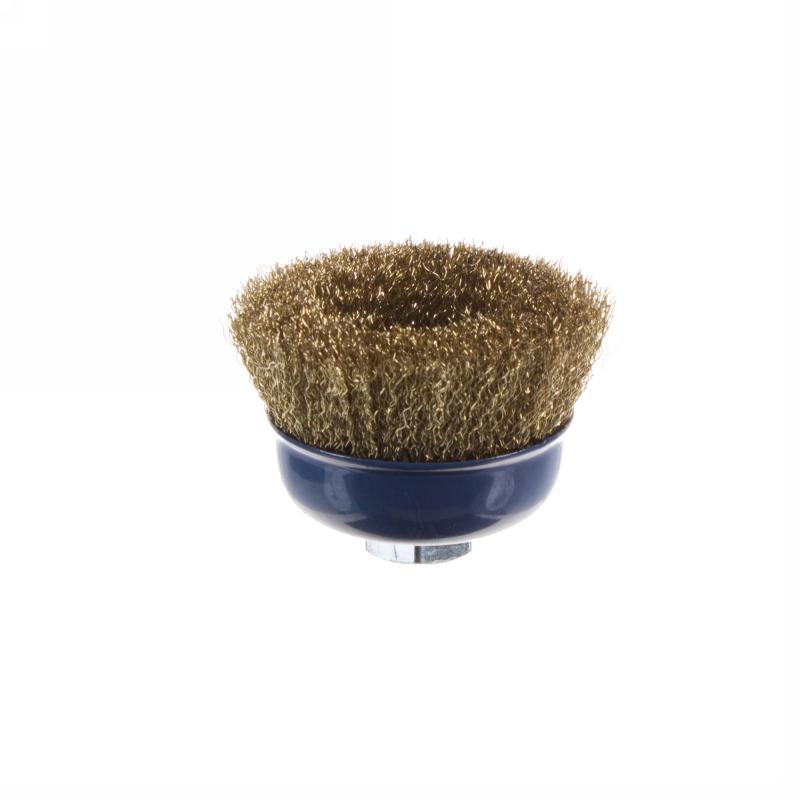Щетка для УШМ чашечная Dexter 75 мм латунная