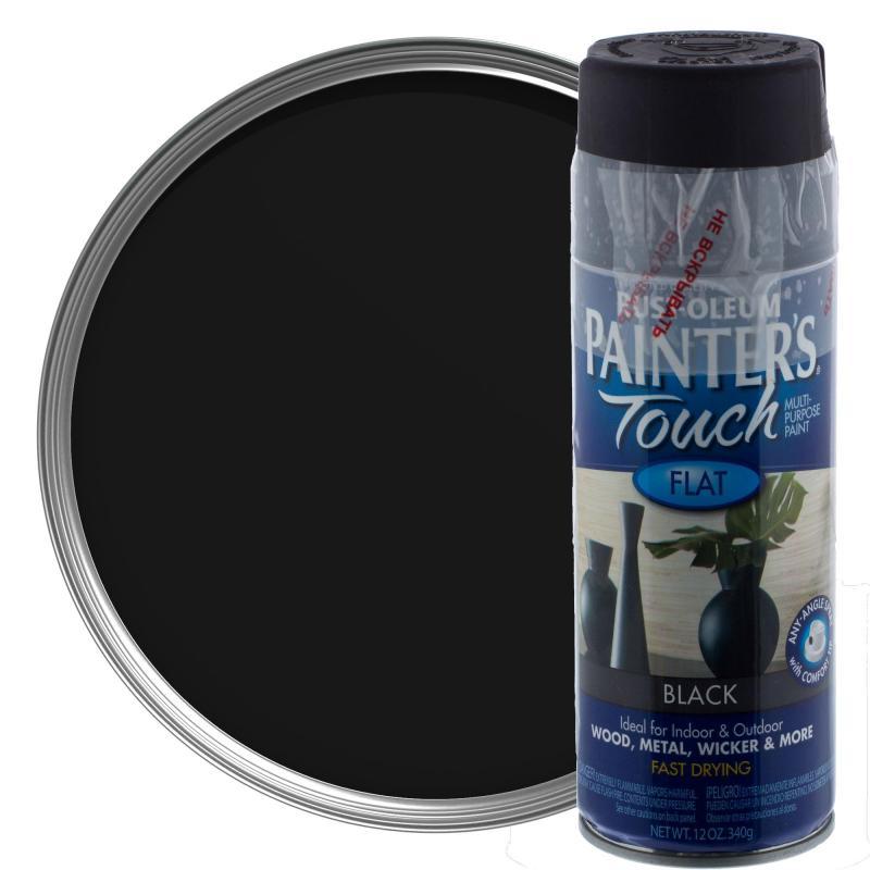 Краска аэрозольная Paint Touch матовая цвет чёрный 340 г