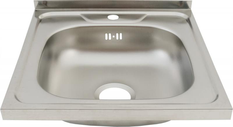 Мойка накладная Orionis 50х50 см глубина 13.5 см, нержавеющая сталь, цвет серебристый