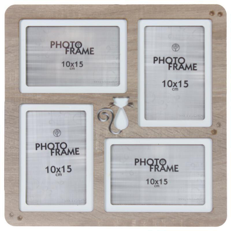 Фотосет «Кошка», 4 фото, размер фото 10х15 см, цвет дуб