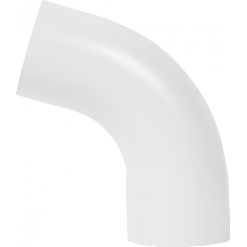 Отвод на 70° для трубы цвет белый