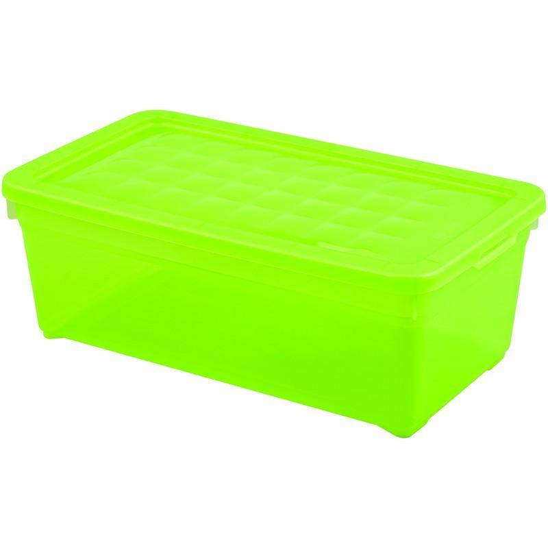 Контейнер Curver Textille прозрачный зеленый, 5,7 л