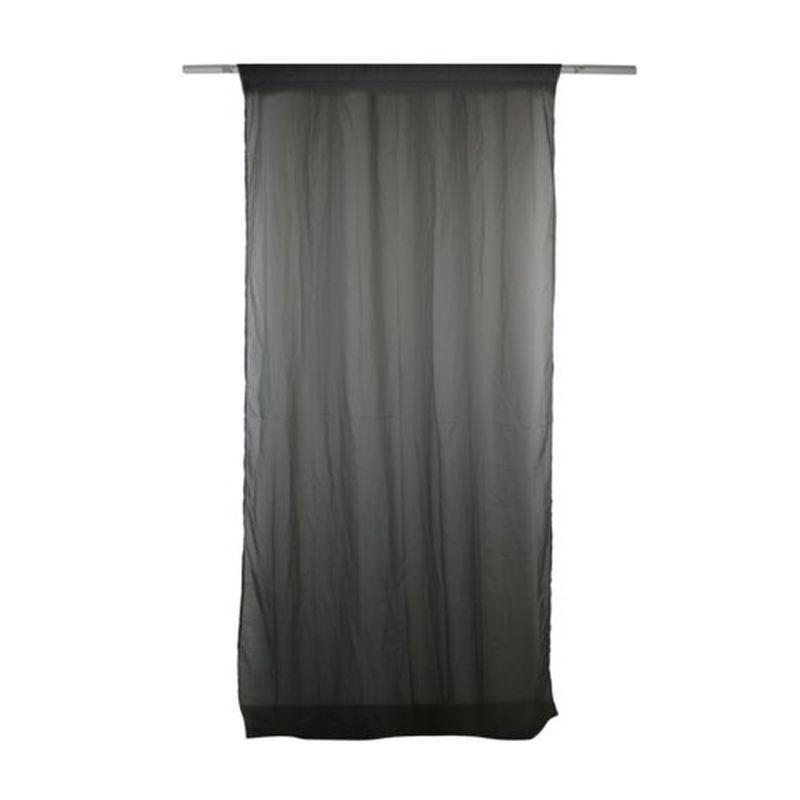 Тюль на ленте «Кала» 300х260 см цвет серый