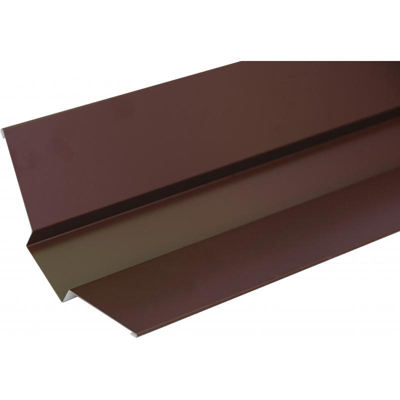Сыртқы ендова, материалы-полиэстер жабындылы метал, ұзындығы 2 м, түсі-қоңыр