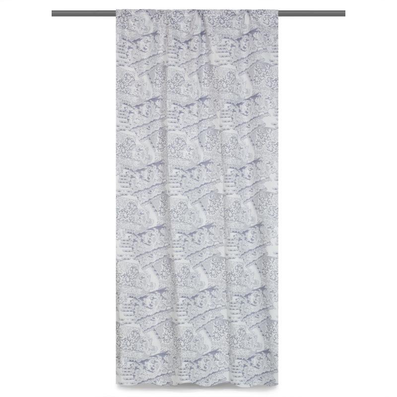 Штора на ленте «Кружево» 145х280 см цвет белый