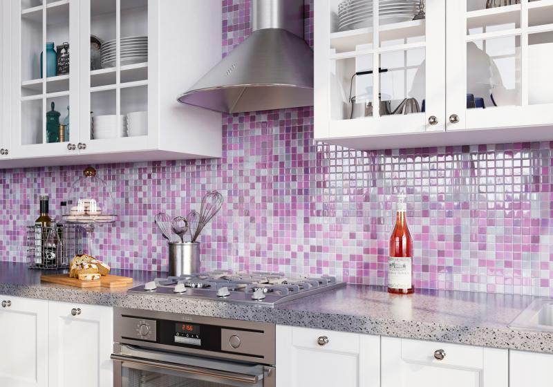 Мозаика Vidrepur №404 31.7х31.7 см стекло цвет фиолетовый
