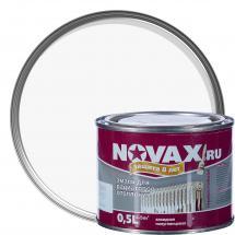 Функционалды қоспалы ертікіші бар алкидті шайыр негізіндегі эмаль: Радиаторларға арналған эмаль Novax, ақ түсті, 0,5 л