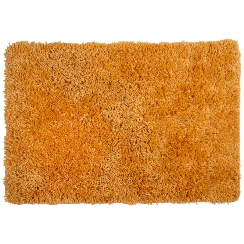 Коврик для ванной комнаты «Shaggy» 70х100 см цвет оранжевый