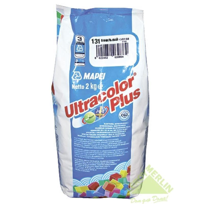 Затирка для межплиточных швов Ultracolor Plus, оттенок светло-бежевый, 2 кг