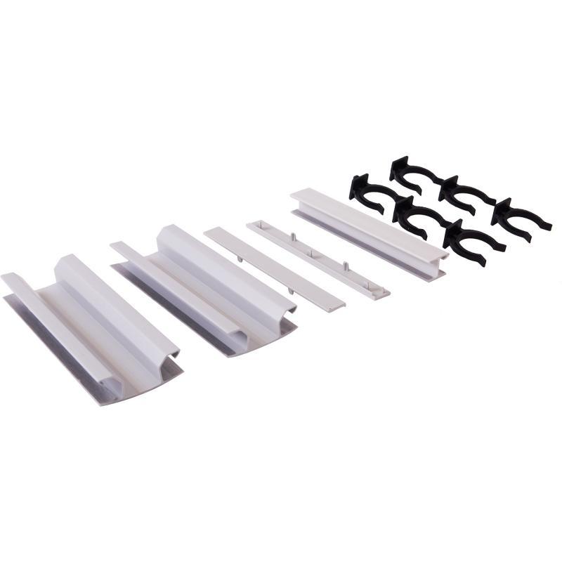 Комплект для установки цоколя ПВХ 150 мм, цвет алюминий