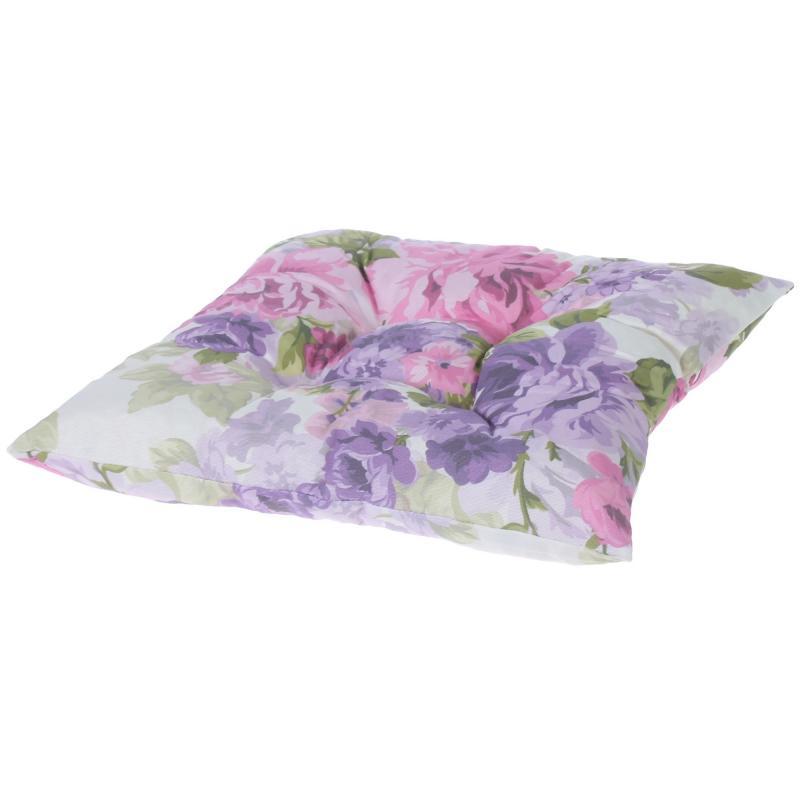 Подушка для стула «Сиреневое поле», 40х40 см, цвет фиолетовый