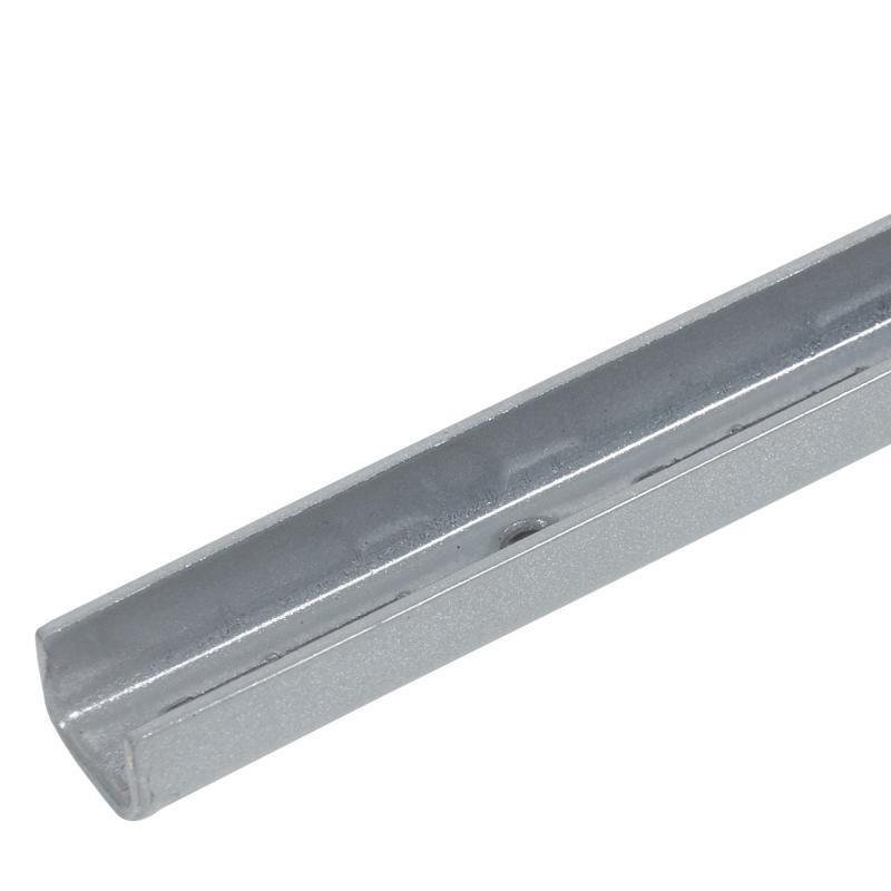 Направляющая однорядная 200 см 55 кг/20 см цвет матовое серебро
