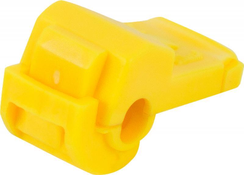 Зажим ответвитель ЗПО 2.5-6 мм2, ПВХ, цвет жёлтый, 100 шт.