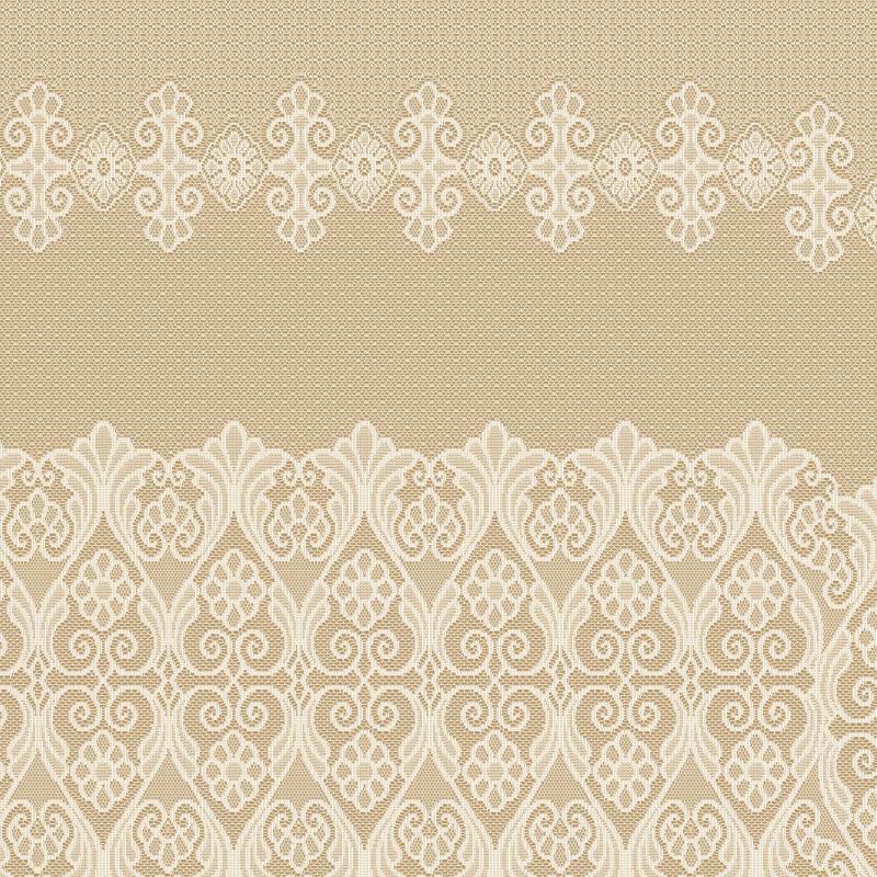 Занавеска на ленте «Кружевница», 285х165 см, цвет ванильный