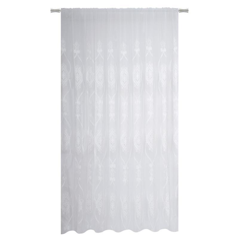 Тюль на ленте «Поликастро» 300х260 см цвет белый