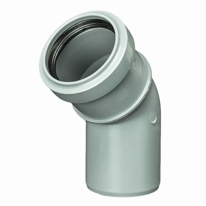 Колено Политрон, 45 градусов, 50 мм, полипропилен