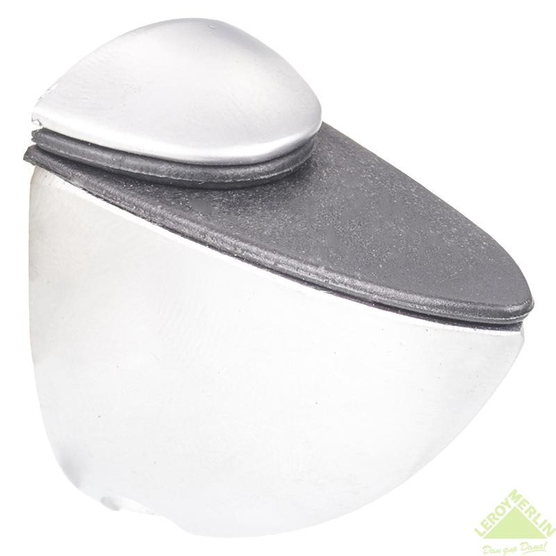 Полкодержатель пеликан 52x60x28 мм, цвет матовый хром, 1 шт.