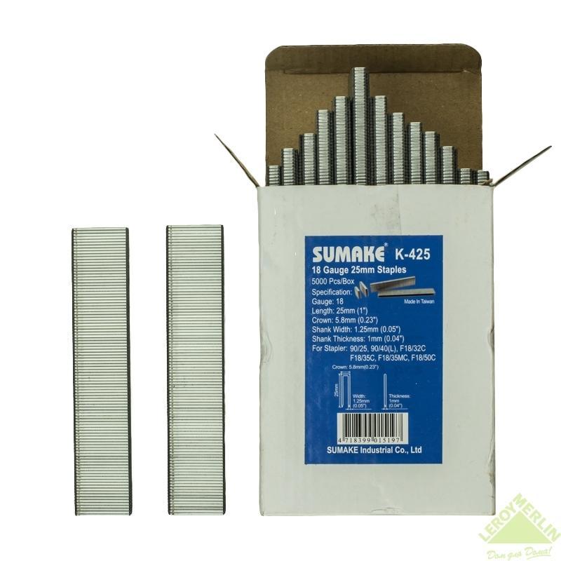 Скоба для степлера Sumake K-425 для 90/25 и 90/40, 25 мм, 5000 шт.