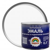 Акрил негізіндегі су-дисперсиялық эмаль: Р-178 радиаторларға арналған акрилді эмаль, түсі ақ, 0,5 кг