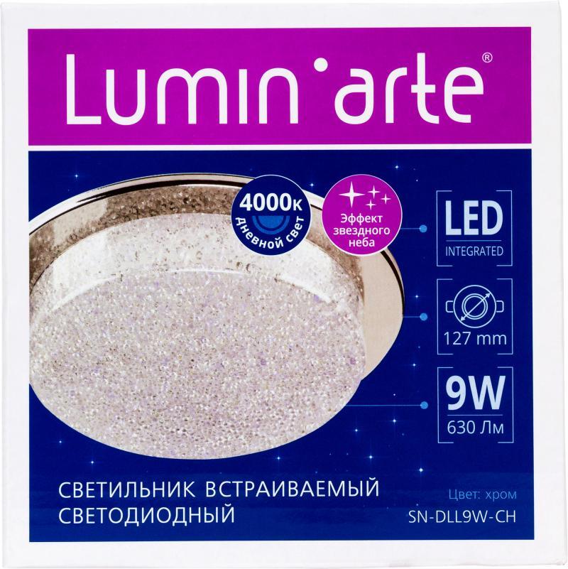 Светильник встраиваемый светодиодный SNDLLLED9W, 9 Вт, 630 Лм, 4000 К, цвет хром, свет холодный белый